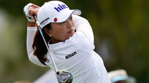 <p>               Jin Young Ko, of South Korea, watches her tee shot on the seventh hole during the third round of the LPGA Tour ANA Inspiration golf tournament at Mission Hills Country Club Saturday, April 6, 2019, in Rancho Mirage, Calif. (AP Photo/Chris Carlson)             </p>