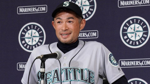 <p>               In this March 22, 2019, photo, then Seattle Mariners right fielder Ichiro Suzuki announces his retirement during a press conference after Game 2 of the Major League Baseball opening series between the Mariners and the Oakland Athletics in Tokyo. For the third time, baseball star Ichiro turned down a prestigious Japanese government award handed to stars in sports, entertainment and culture. A Japanese government spokesman said Friday, April 5, 2019 that Ichiro had declined the People's Honor Award. (AP Photo/Eugene Hoshiko)             </p>