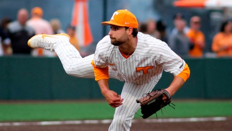 <p>               In this April 5, 2019, photo, Tennessee pitcher Garrett Stallings throws during an NCAA college baseball game against Mississippi State in Knoxville, Tenn. Tennessee's pitching has the Volunteers on the verge of ending the Southeastern Conference's longest NCAA Tournament drought. The Vols (30-11, 9-9 SEC) have allowed two runs or less in seven of their last eight games. Tennessee has gone 7-1 during that stretch and won three straight at Kentucky last week for its first road sweep of an SEC opponent since 2010. (AP Photo/Shawn Millsaps)             </p>