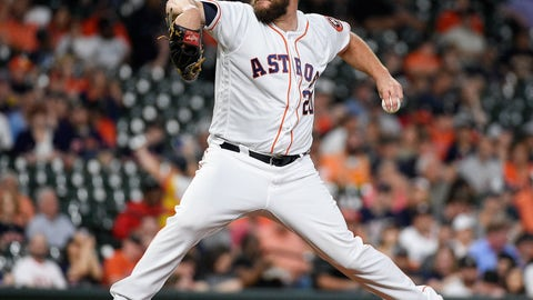 <p>               Houston Astros starting pitcher Wade Miley delivers during the first inning of a baseball game against the Minnesota Twins, Tuesday, April 23, 2019, in Houston. (AP Photo/Eric Christian Smith)             </p>