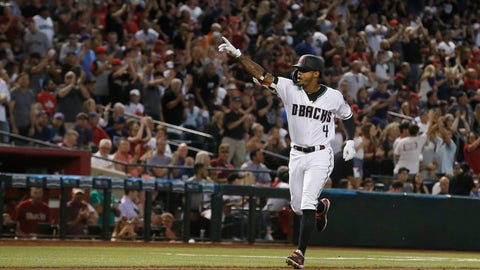 <p>               Arizona Diamondbacks shortstop Ketel Marte celebrates his home run against the Boston Red Sox during the fourth inning of a baseball game Friday, April 5, 2019, in Phoenix. (AP Photo/Ross D. Franklin)             </p>