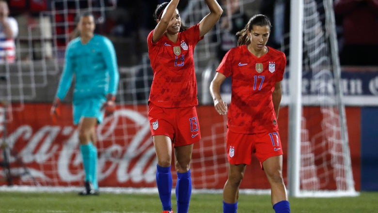 Pugh scores 2 and US women beat Australia 5-3 in exhibition