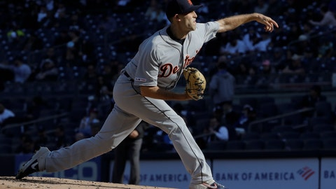 <p>               Detroit Tigers' Matthew Boyd delivers a pitch during the second inning of a baseball game against the New York Yankees Wednesday, April 3, 2019, in New York. (AP Photo/Frank Franklin II)             </p>