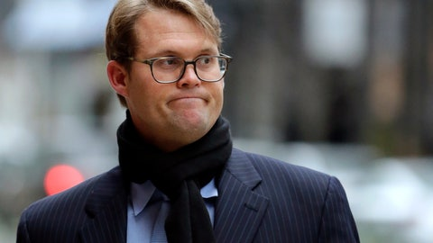 <p>               Mark Riddell arrives at federal court Friday, April 12, 2019, in Boston, where he was scheduled to plead guilty to charges in a nationwide college admissions bribery scandal. (AP Photo/Charles Krupa)             </p>