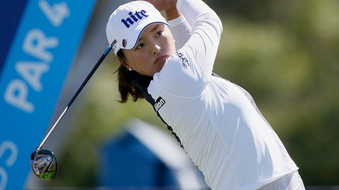 <p>               Jin Young Ko, of South Korea, hits from the sixth tee during the final round of the LPGA Tour ANA Inspiration golf tournament at Mission Hills Country Club in Rancho Mirage, Calif., Sunday, April 7, 2019. (AP Photo/Alex Gallardo)             </p>