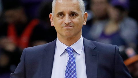 <p>               FILE - In this Jan. 24, 2019, file photo, Phoenix Suns head coach Igor Kokoskov watches during the second half of an NBA basketball game against the Portland Trail Blazers. The Suns say they have fired Kokoskov after one season. (AP Photo/Matt York, File)             </p>
