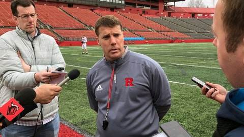 <p>               Rutgers NCAA college football coach Chris Ash speaks to reporters in Piscataway, N.J., Thursday, April 11, 2019. Coming off a one-win season, Chris Ash isn't ready to make any predictions about Rutgers' prospects in 2019. (AP Photo/Tom Canavan)             </p>