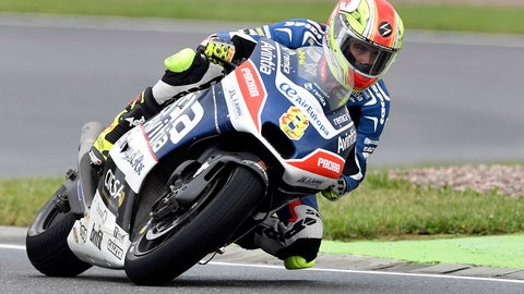 <p>               FILE - In this July 17, 2016 file photo, Hector Barbera from Spain goes through a curve during the MotoGP race on the Sachsenring in Hohenstein-Ernstthal, Germany. Former MotoGP rider Hector Barbera complained that his team didn't have enough money to give him a new engine for the Sunday April 7, 2019 World Supersport race at the Motorland circuit in Aragon, Spain and then the team reported Sunday morning that Barbera's bike went missing from the garage. The police was called and an investigation is underway with team owner Imre Toth implying that Hector might have been involved in the bike's disappearance. (AP Photo/Jens Meyer, File)             </p>