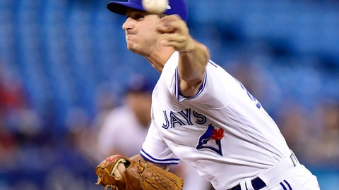 <p>               Toronto Blue Jays relief pitcher Thomas Pannone (45) delivers his ninth strike to home plate during fifth inning MLB baseball action against the Tampa Bay Rays in Toronto on Sunday, April 14, 2019. (Frank Gunn/The Canadian Press via AP)             </p>