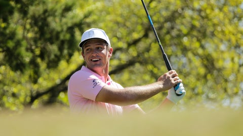 <p>               Bryson DeChambeau reacts to his drive on the during a pr18th tee during a practice round at the Dell Match Play Championship golf tournament, Tuesday, March 26, 2019, in Austin, Texas. (AP Photo/Eric Gay)             </p>