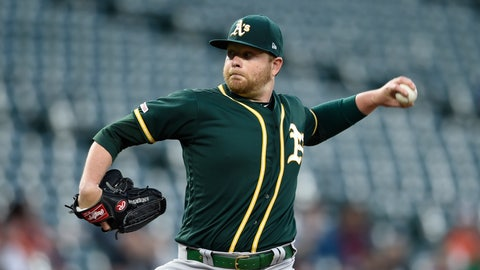 <p>               Oakland Athletics pitcher Brett Anderson delivers against the Baltimore Orioles in the first inning of a baseball game, Tuesday, April 9, 2019, in Baltimore. (AP Photo/Gail Burton)             </p>