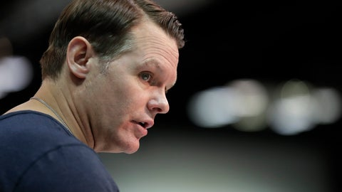 <p>               FILE- In this Feb. 27, 2019, file photo, Indianapolis Colts general manager Chris Ballard speaks during a new conference at the NFL football scouting combine in Indianapolis. Ballard enjoys these final days before the NFL draft. He pores through the tapes, meets with coaches and scouts and constantly debates where each college prospect belongs on the Colts' board. Some see this annual ritual as a tedious, emotional grind. Ballard savors every precious moment as he prepares to step into the biggest ring of the offseason. (AP Photo/Michael Conroy, File)             </p>