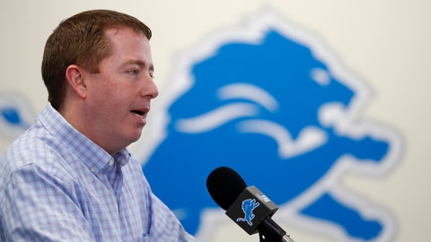 <p>               Detroit Lions General Manager Bob Quinn addresses the media in his annual pre-draft news conference, Thursday, April 18, 2019, in Allen Park, Mich. (AP Photo/Carlos Osorio)             </p>