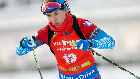 <p>               FILE- In this file photo taken on Sunday, Dec. 9, 2018, Russia's Margarita Vasilyeva competes in the women's 10 km pursuit competition at the Biathlon World Cup event in Pokljuka, Slovenia. Russia previously used hacked data to vilify Western athletes as cheats for bending the rules to take banned substances but the country is now warming to a controversial part of the anti-doping system. More Russians are applying for Therapeutic Use Exemptions despite President Vladimir Putin saying in 2017 that the West was using them to game the system. Vasilyeva told state TV last month that despite having asthma, she refused to get permission to use an inhaler. (AP Photo/Darko Bandic, File)             </p>