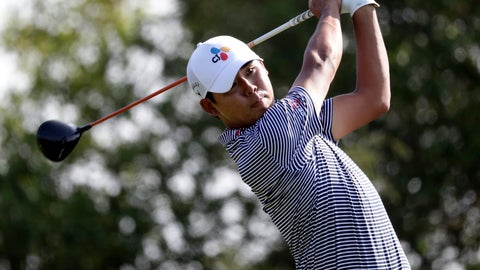 <p>               Si Woo Kim hits watches a shot on the 15th hole during the second round of the Valero Texas Open golf tournament Friday, April 5, 2019, in San Antonio. (AP Photo/Eric Gay)             </p>