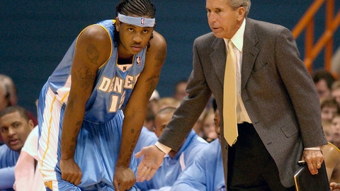<p>               FILE - In this Sunday, Oct. 19, 2003, file photo, Denver Nuggets' Carmelo Anthony, left, receives instructions from assistant coach John MacLeod in the second period of a preseason game against the Detroit Pistons in Syracuse, N.Y. MacLeod, the longtime NBA coach who led the Phoenix Suns to the 1976 NBA Finals, has died. He was 81. MacLeod's son Matt confirmed his father's death Sunday, April 14, 2019, to The Associated Press. (AP Photo/Kevin Rivoli, File)             </p>
