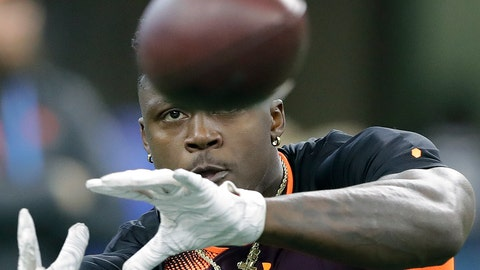 <p>               FILE - In this March 2, 2019, file photo, Mississippi wide receiver A.J. Brown runs a drill during the NFL football scouting combine, in Indianapolis. Brown is a possible pick in the 2019 NFL Draft. (AP Photo/Darron Cummings, File)             </p>