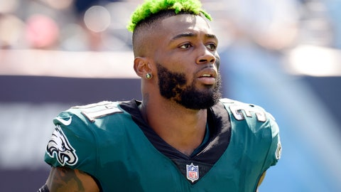 <p>               FILE - In this Sept. 30, 2018, file photo, Philadelphia Eagles defensive back Jalen Mills walks on the sideline during the second half of an NFL football game against the Tennessee Titans in Nashville, Tenn. Police said Saturday, April 13, 2019,  Philadelphia Eagles cornerback Jalen Mills and Washington Wizards forward Devin Robinson were arrested after a fight near a club in Washington. (AP Photo/Mark Zaleski, File)             </p>
