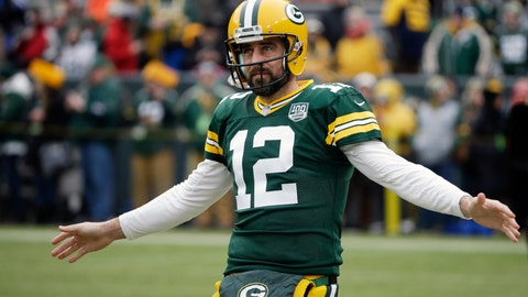 <p>               FILE - In this Dec. 30, 2018, file photo, Green Bay Packers' Aaron Rodgers warms up before an NFL football game against the Detroit Lions, in Green Bay, Wis. The Packers have needed the draft for fixes on defense the last few years, but this might be the time for them to swing back to the other side of the ball after a lackluster performance in 2018 by the offense and to give quarterback Aaron Rodgers more help. (AP Photo/Mike Roemer, File)             </p>