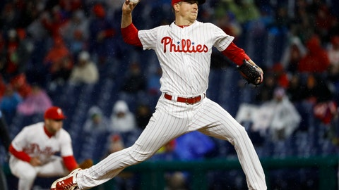 <p>               Philadelphia Phillies' Nick Pivetta pitches during the third inning of the team's baseball game against the Minnesota Twins, Friday, April 5, 2019, in Philadelphia. (AP Photo/Matt Slocum)             </p>