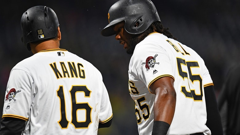 Jung Ho Kang sends deep home run into the seats giving the Pirates a 1-0 lead