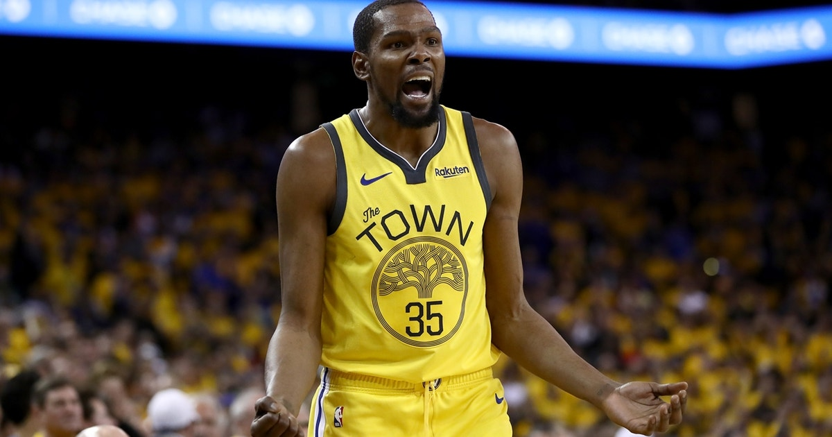 best service 6aa09 e123a Colin Cowherd believes KD s struggles in Game 2 were reflective of him  living in a  basketball bubble    FOX Sports