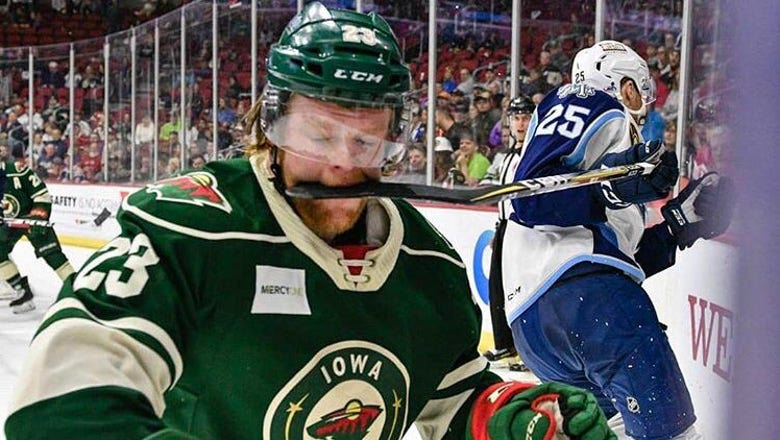 Top Tweets: Iowa Wild's Shaw gets hungry on ice