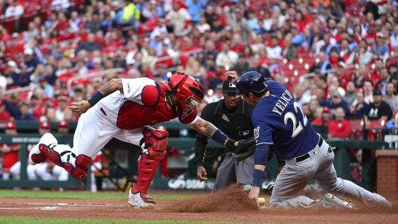 Molina's three hits lift Cardinals over Brewers 4-3