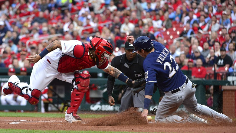 Cardinals rally in the 8th inning to slip past Brewers 4-3