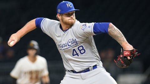 Sep 17, 2018; Pittsburgh, PA, USA;  Kansas City Royals relief pitcher Ben Lively (48) pitches against the Pittsburgh Pirates during the ninth inning at PNC Park. The Pirates won 7-6. Mandatory Credit: Charles LeClaire-USA TODAY Sports