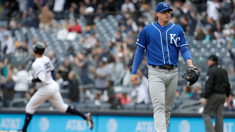 Fillmyer allows four home runs in Royals' 9-2 loss to Yankees