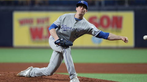 Apr 23, 2019; St. Petersburg, FL, USA; Kansas City Royals pitcher Tim Hill (54) throws a pitch during the sixth inning  against the Tampa Bay Rays at Tropicana Field. Mandatory Credit: Kim Klement-USA TODAY Sports