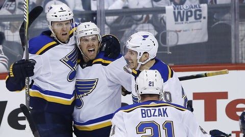 NHL roundup: Schwartz's hat trick helps Blues eliminate Jets
