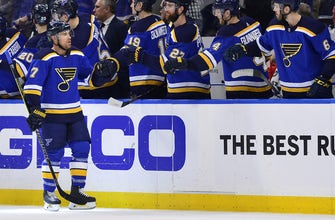 Schwartz's hat trick lifts Blues past Jets 3-2 and onto the second round