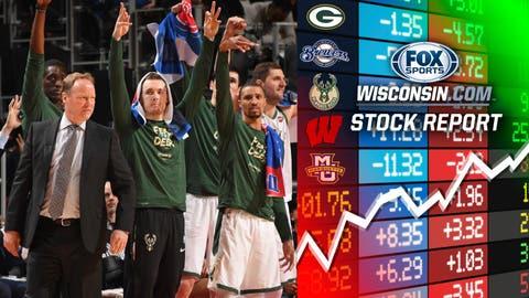The Bucks' bench (↑ UP)