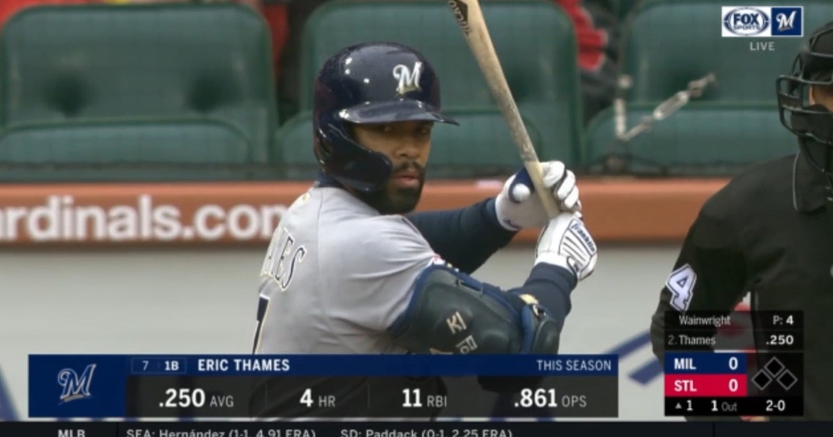 WATCH: Thames puts Brewers in front early with 5th home run
