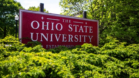 <p>               This May 8, 2019 photo shows a sign for Ohio State University in Columbus, Ohio. On Friday, May 17, 2019, the school said at least 177 men were sexually abused by Ohio State team doctor Richard Strauss who died years ago, according to findings from a law firm that investigated the accusations, concluding that school leaders knew at the time. (AP Photo/Angie Wang)             </p>