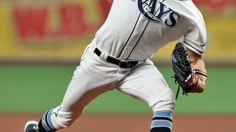 <p>               Tampa Bay Rays starter Tyler Glasnow pitches against the New York Yankees during the first inning of a baseball game Friday, May 10, 2019, in St. Petersburg, Fla. (AP Photo/Steve Nesius)             </p>