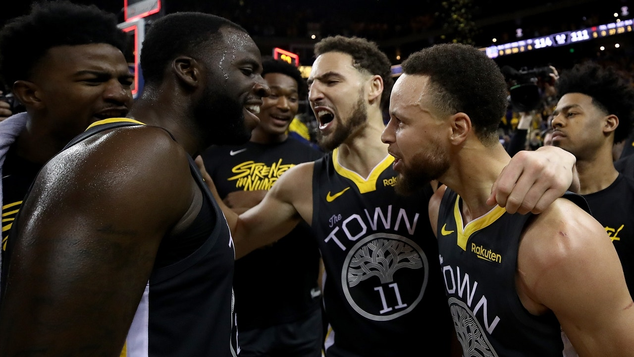 25b95da6a4b Nick Wright reacts to the Warriors  comeback Game 2 win over the Blazers