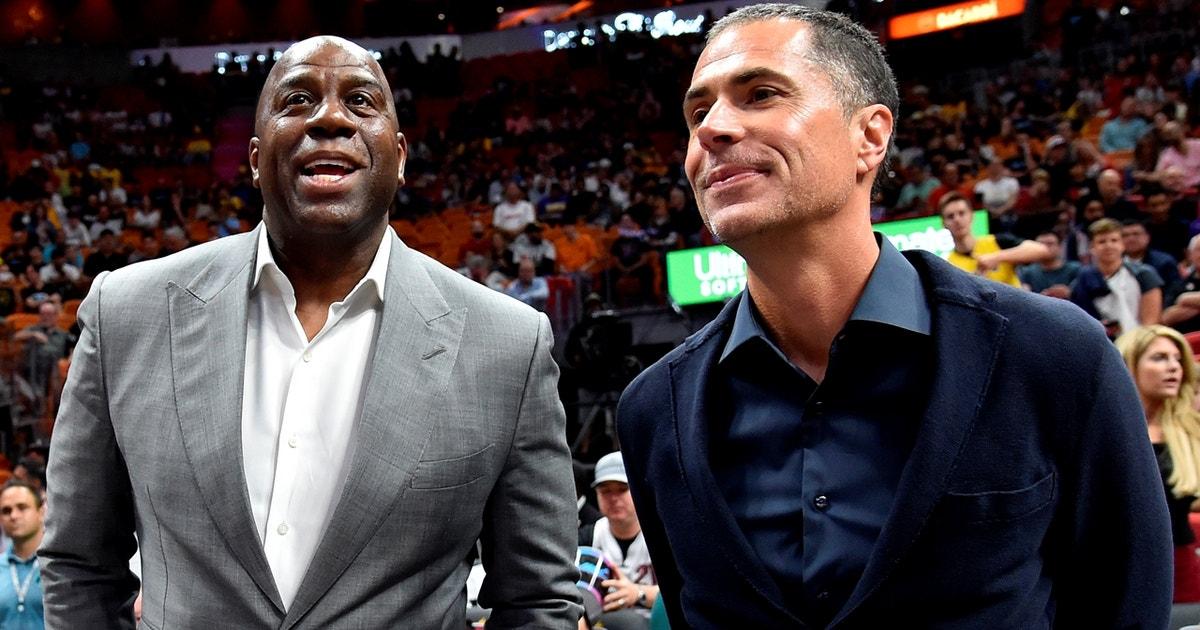 Nick Wright addresses Magic Johnson's remarks about Pelinka & Lakers
