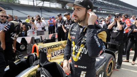 <p>               FILE - In this May 20, 2017, file photo, James Hinchcliffe, of Canada, waits for the start of qualifications for the Indianapolis 500 IndyCar auto race at Indianapolis Motor Speedway in Indianapolis. If Hinchcliffe has learned anything about Indianapolis Motor Speedway over the last eight years, it's how exhilarating and cruel this track can be to drivers. (AP Photo/Darron Cummings, File)             </p>