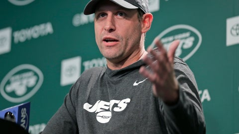 <p>               New York Jets head coach Adam Gase takes questions from reporters before the NFL football team's practice in Florham Park, N.J., Thursday, May 23, 2019. (AP Photo/Seth Wenig)             </p>
