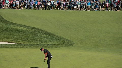 <p>               Brooks Koepka putts on the 16th green during the first round of the PGA Championship golf tournament, Thursday, May 16, 2019, at Bethpage Black in Farmingdale, N.Y. (AP Photo/Andres Kudacki)             </p>