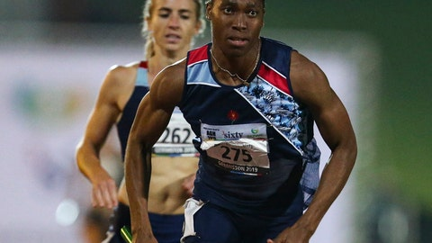 <p>               In this photo taken Saturday April 27, 2019, South Africa's athlete Caster Semenya competes in an event at a meeting in Johannesburg.  Semenya lost her Court of Arbitration for Sport appeal Wednesday May 1, 2019, against rules designed to decrease naturally high testosterone levels in some female runners.(AP Photo/Roger Sedres)             </p>