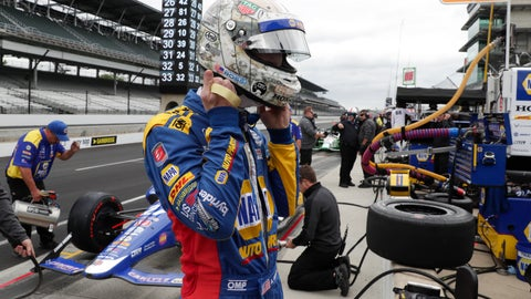 <p>               Alexander Rossi prepares to drive before the start of practice for the Indianapolis 500 IndyCar auto race at Indianapolis Motor Speedway, Monday, May 20, 2019, in Indianapolis. (AP Photo/Michael Conroy)             </p>