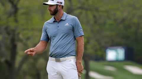 <p>               Dustin Johnson reacts after a putt on the 17th green during the final round of the PGA Championship golf tournament, Sunday, May 19, 2019, at Bethpage Black in Farmingdale, N.Y. (AP Photo/Seth Wenig)             </p>