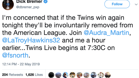 Dick Bremer, Twins play-by-play