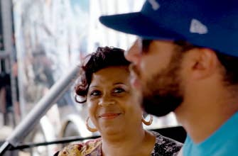 Bubba Wallace spends time at the track with his mom Desiree