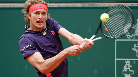 <p>               Alexander Zverev of Germany returns a ball to Nicolas Jarry of Chile during their final match, at the ATP 250 Geneva Open tournament in Geneva, Switzerland, Saturday, May 25, 2019. (Salvatore Di Nolfi/Keystone via AP)             </p>
