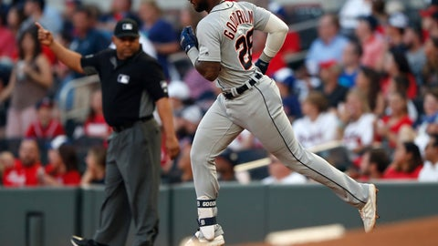 <p>               Detroit Tigers' Niko Goodrum rounds the bases after hitting a solo-home run in the third inning of a baseball game against the Atlanta Braves, Friday, May 31, 2019, in Atlanta. (AP Photo/John Bazemore)             </p>